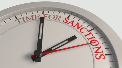 Time for sanctions