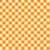 Thanksgiving or autumn gingham fabric, seamless pattern included