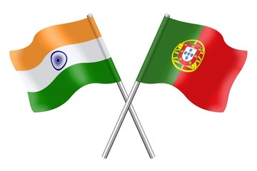 Flags: India and Portugal