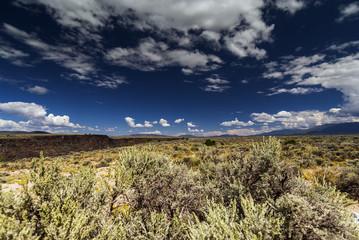 Landschaft im Hochland bei Taos, USA