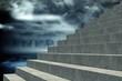 Composite image of grey steps