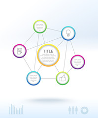 Infographic - net with circle