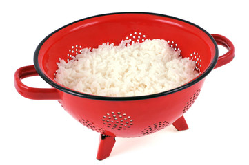 Passoire de riz blanc
