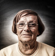 donna anziana sguardo sereno