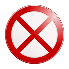 Stop sign. No sign template. Vector illustration.