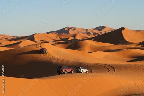 Fotobehang Woestijn dans l'erg Chebbi