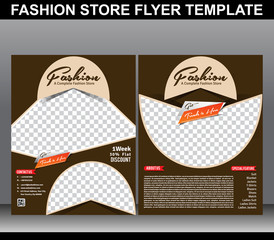 Fashion store flyer template