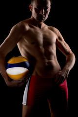 Selbstsicherer, arroganter Beachvolleyballspieler