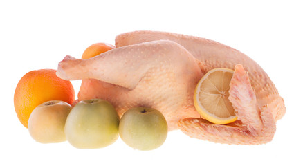 Chicken and Fruits