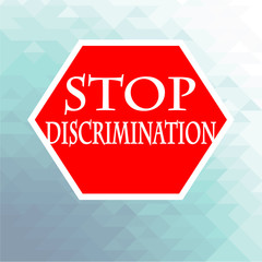 stop signal disrimination illustration over blue color backgroun