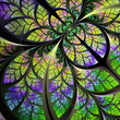 Fabulous fractal pattern in blue, green and yellow. Collection -