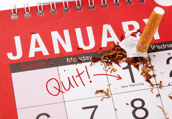New year's resolution quitting smoking