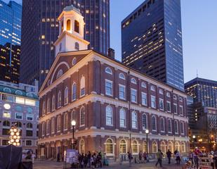 Faneuil Hall in Boston, Massachusetts, USA