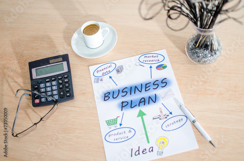 canvas print picture Business plan