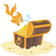 Gold Fish and Treasure Chest