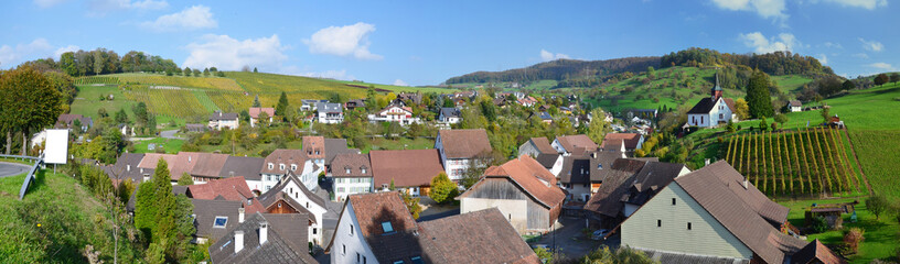 Panorama with the Swiss village Wintersingen
