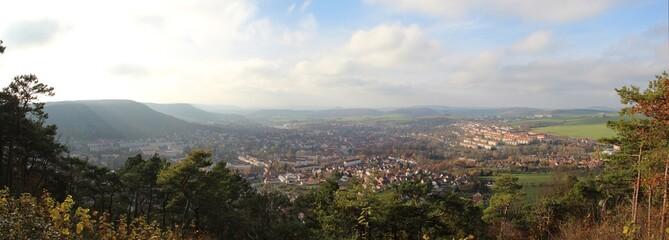 Panoramablick vom Dünkreuz auf Heilbad Heiligenstadt (Eichsfeld)