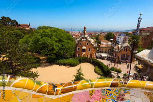 canvas print picture Park Guell - Barcelona Spain