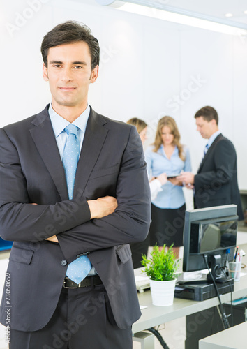 canvas print picture Business manager