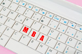 mba keys in a laptop keyboard poster