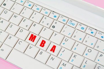 mba keys in a laptop keyboard