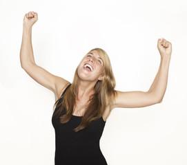 young woman enjoying