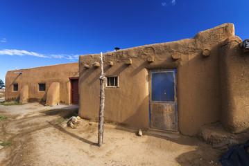 Taos Pueblo, älteste Indianerhäuser in USA