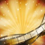 Fototapeta background with retro filmstrip and stars