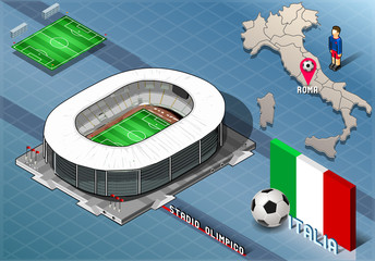 Isometric Stadium, Olimpico, Rome, Italy