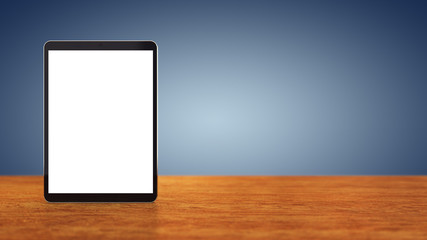Large tablet with blank screen , Mobile device