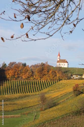 canvas print picture Kapelle Glojach 2