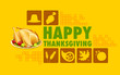 Happy Thanksgiving collage background