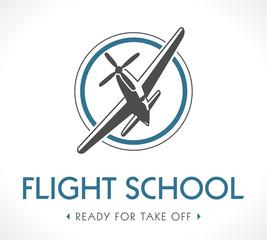 Flight school logo