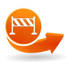 barrière sur bouton web orange