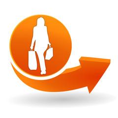 promotion sur bouton web orange