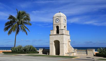 Worth Avenue Clock Tower in Palm Beach, Florida