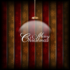 Christmas bauble on abstract background