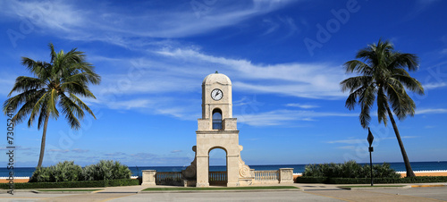 Staande foto Artistiek mon. Worth Avenue Clock Tower on Palm Beach, Florida