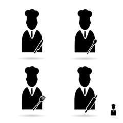cook icon set vector