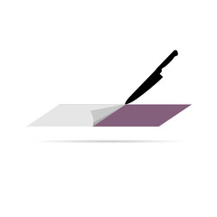 cutting paper vector