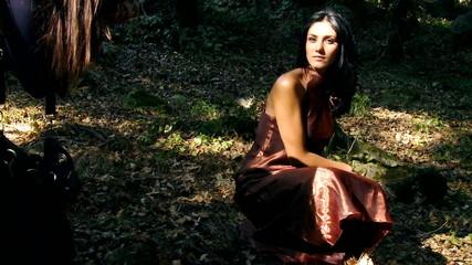Female model posing or fashion photographer