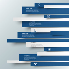 Info graphic blue striped modern template