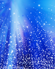 Abstract Winter background.Christma s abstract bokeh.