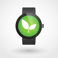 Smart watch icon with a plant