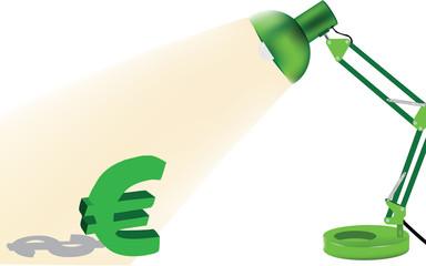 luce sull'euro
