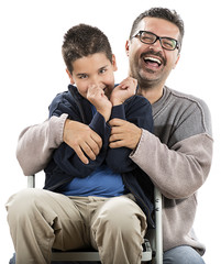 Cheerful Child and Father