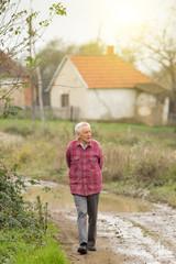 Senior man in the village