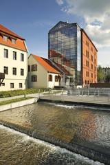 Factory island in Bydgoszcz. Poland