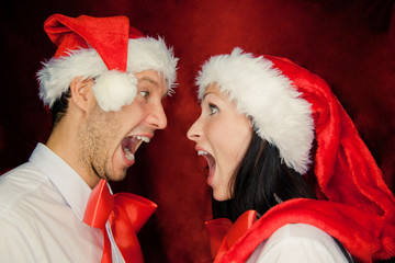 crazy christmas couple