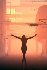Girl on the street.